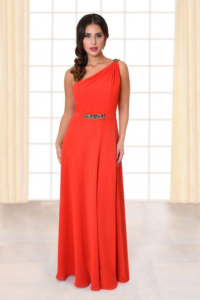 One-Shoulder Abendkleid Amelia rot