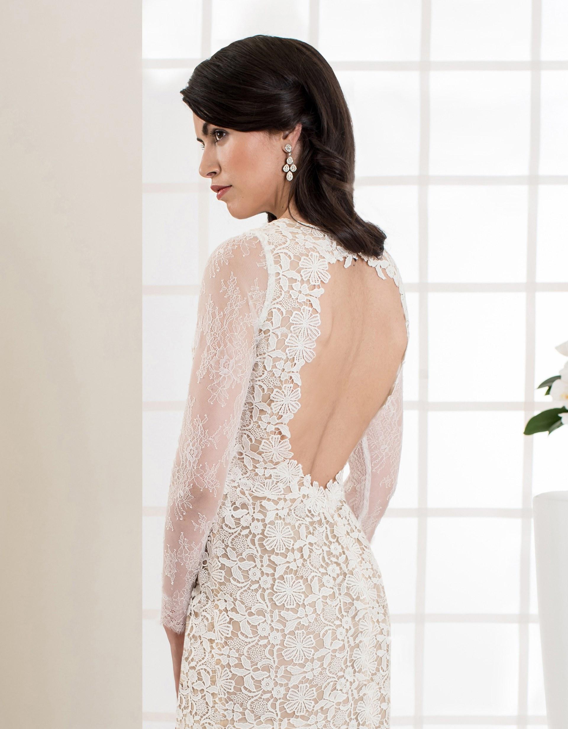 Fantastisch Kurze Spitze Brautkleid Mit ärmeln Fotos - Hochzeit ...