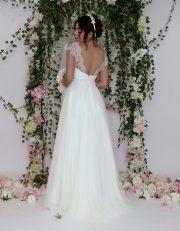 sinnlich Rückenausschnitt Brautkleid